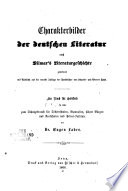 Charakterbilder der deutschen Literatur nach Vilmar's Literaturgeschichte geordnet