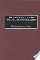Adoption Policy and Special Needs Children