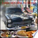 illustration Little Cuba at Home. Popular Cuban Cuisine recipes