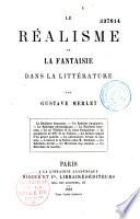 Le réalisme et la fantaisie dans la littérature