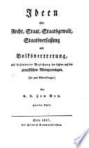 Ideen über Recht, Staat, Staatsgewalt, Staatsverfassung und Volksvertretung