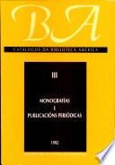 """Catálogos de la Biblioteca """"América"""""""