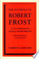 The Intervals of Robert Frost