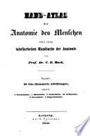 Hand atlas der anatomie des menschen