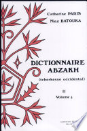 Dictionnaire abzakh  tscherkesse occidental