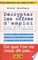D  crypter les offres d emploi pour r  ussir son entretien d embauche