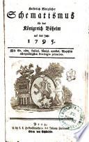 Kaiserlich Königlicher Schematismus für das Königreich Böheim auf das Jahr 1795