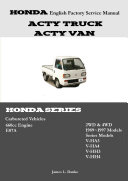 Honda Acty English Factory Service Manual