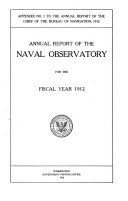 Annual report of the Naval Observatory