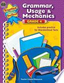 Grammar  Usage   Mechanics Grade 4