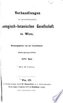 Verhandlungen der Kaiserlich-Königlichen Zoologisch-Botanischen Gesellschaft in Wien