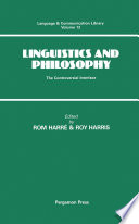 Linguistics And Philosophy book