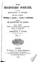 Novo Diccionario Portatil Das Linguas Portugueza E Ingleza
