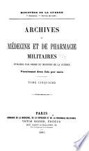 Archives de m  decine et de pharmacie militaires