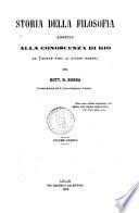 Storia della filosofia rispetto alla conoscenza di Dio da Talete fino ai giorni nostri del dott  R  Bobba