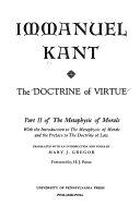 The doctrine of virtue