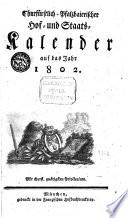 Churfürstlich-Pfalzbaierischer Hof- und Staatskalender