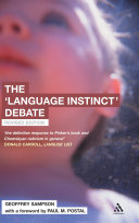 The  Language Instinct  Debate