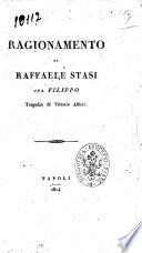Ragionamento di Raffaele Stasi sul Filippo tragedia di Vittorio Alfieri