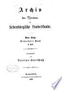 Siebenbürgisches Archiv