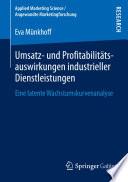 Umsatz  und Profitabilit  tsauswirkungen industrieller Dienstleistungen