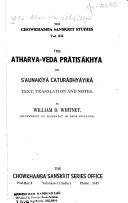 The Atharva Veda Pr Tis Khya