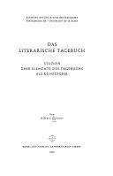 Das literarische Tagebuch