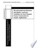Recommended Specifications and Quality Assurance Guidelines for Steel Moment-frame Construction for Seismic Applications