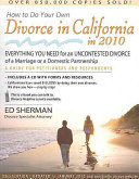 How to Do Your Own Divorce in California in 2010