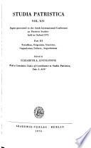Texte und Untersuchungen zur Geschichte der altchristlichen Literatur