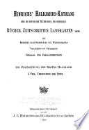 Hinrichs  Halbjahrs katalog der im deutschen Buchhandel erschienenen B  cher  Zeitschriften  Landkarten usw