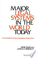 Major Legal Systems in the World Today