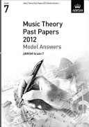 Music Theory Past Papers 2012 Model Answers  ABRSM Grade 7
