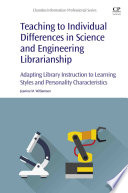 Teaching to Individual Differences in Science and Engineering Librarianship