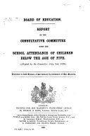 illustration du livre Report of the Consultative Committee Upon the School Attendance of Children Below the Age of Five