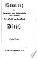 Sammlung der b  gerlichen und Policey Gesetze und Ordnungen  Lobl  Stadt und Landschaft