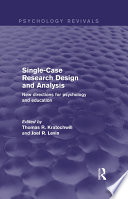 Single Case Research Design and Analysis  Psychology Revivals