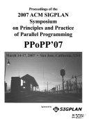 Proceedings Of The Acm Sigplan Symposium On Principles Practice Of Parallel Programming book