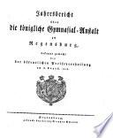 Jahresbericht über die Königliche Gymnasial-Anstalt zu Regensburg