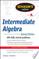 Schaum s Outline of Intermediate Algebra  Second Edition