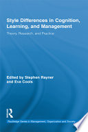 Style Differences in Cognition  Learning  and Management