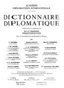 Dictionnaire diplomatique