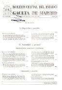 Bolet  n oficial del estado  Gaceta de Madrid