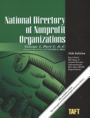 National Directory Of Nonprofit Organizations A Comprehensive Guide Providing Profiles Procedures For Nonprofit Organizations
