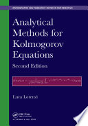 Analytical Methods for Kolmogorov Equations  Second Edition