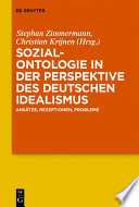 Sozialontologie in der Perspektive des deutschen Idealismus