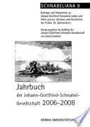 Jahrbuch der Johann-Gottfried-Schnabel-Gesellschaft