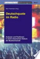 Deutschquote im Radio