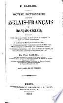 Nouveau Dictionnaire portatif Anglais Fran  ais et Fran  ais Anglais     Deux tomes en un volume