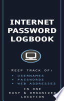 Internet Password Logbook  Cognac Leatherette